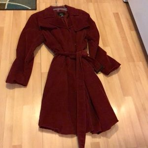 Corduroy trench coat